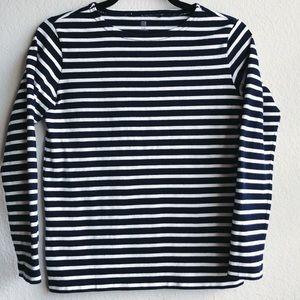 Uniqlo Kids Girl Navy White Brenton Striped Top 12